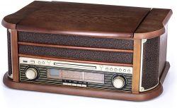 Camry CR 1111 CD / MP3 / USB / felvétel retró fa színű lemezjátszó