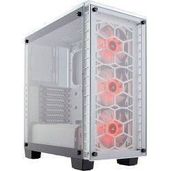 Corsair Crystal Series 460X RGB Compact Midi Edzett üveg fehér ATX számítógép ház