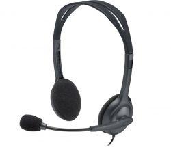 Logitech H111 szürke Jack mikrofonos fejhallgató