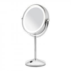 BaByliss 9436E 10x nagyítású, LED ezüst-fehér kétoldalas kozmetikai tükör