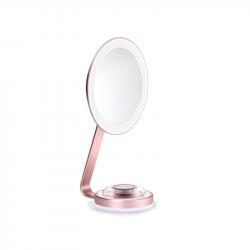 BaByliss 9450E 10x nagyítású, LED rózsaarany-fehér kétoldalas kozmetikai tükör