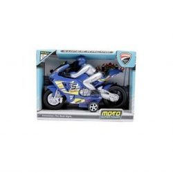 MTS 97021 (23 cm) kék lendkerekes versenymotor