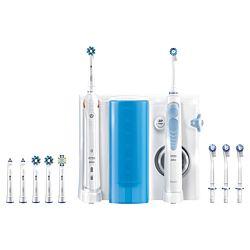 Braun Oral-B Smart 5000 + Oxyjet Li-Ion, 5 mód fehér-kék fogkefe + szájzuhany