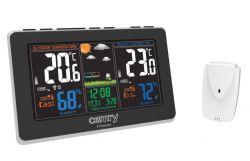 Camry CR 1174 DCF, 433,99 MHz, színes kijelző fekete időjárás állomás