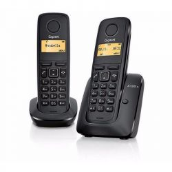 Gigaset A120 Duo fekete vezeték nélküli (DECT) telefon