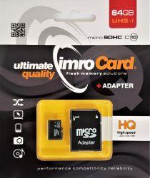 IMRO 10/64G UHS-I ADP MicroSDHC 64GB Class 10 memóriakártya