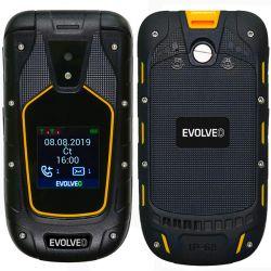 "Evolveo StrongPhone F5 2.4""/1.44"" Dual SIM 2G fekete-sárga strapabíró mobiltelefon"