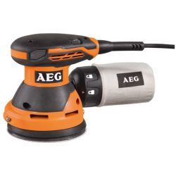 Aeg EX 125 ES 300 W, 14.000 - 24.000 rezgés/perc, fekete-narancs excentrikus csiszoló
