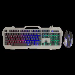 White Shark Apache-2 GMK-1901 3200 DPI, LED, USB 2.0 szürke-fekete gamer csomag egér + billentyűzet (angol)