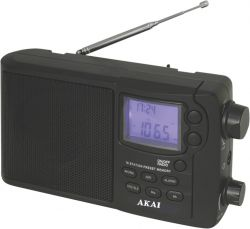 Akai APR-2418 fekete rádió