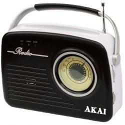 Akai APR-11B fekete-ezüst hordozható rádió