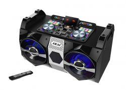 Akai DJ-530 USB, SD, AUX 120 W, FM fekete-ezüst hordozható Bluetooth hangrendszer