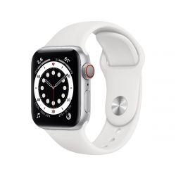 "Apple Watch Series 6 Oled 1.57"" 40mm GPS 4G fehér sportszíjas okosóra"