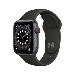 "Apple Watch Series 6 Oled 1.57"" 40mm GPS 4G fekete sportszíjas okosóra"