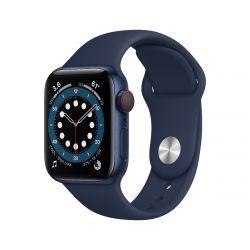 "Apple Watch Series 6 Oled 1.57"" 40mm GPS 4G tengerkék sportszíjas okosóra"