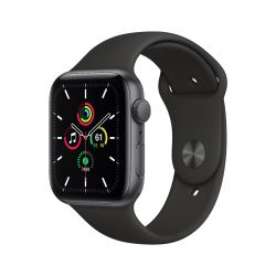 "Apple Watch SE Oled 1.73"" 44mm GPS fekete sportszíjas okosóra"