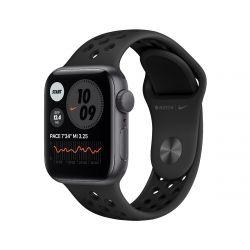 Apple Watch Nike SE GPS, 40 mm űrszürke alumínium tok antracit / fekete sportpánttal