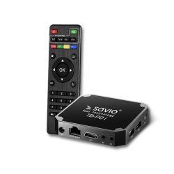 Savio TB-P01 Smart TV Box Premium One USB, 2 GB DDR3, 4k Ultra HD fekete médialejátszó