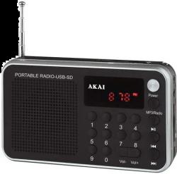 Akai DR002A-521 fekete rádió