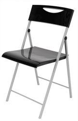 """ALBA """"Smile"""" fém és műanyag fekete összecsukható szék"""