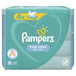Pampers Fresh Clean 208 darabos nedves törlőkendő