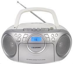Blaupunkt BB16WH CD/MP3/USB/PLL FM, kazetta, 2x1.7 W fehér-ezüst boombox