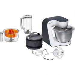 Bosch MUM50123 Start Line 800 W 3,9 L Narancssárga, Ezüst, Átlátszó, Fehér Konyhai robotgép