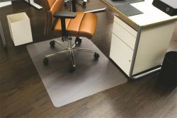 """RS OFFICE Ecoblue"""" 120x150 cm, E forma, székalátét, kemény felületre"""""""