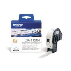 Brother DK-11204 400db/tekercs 17mm x 54mm fehér elővágott öntapadós címke