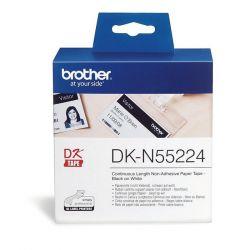 Brother DK-N55224 54mm x 30,48m nem öntapadós fehér papírszalag