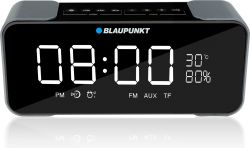 Blaupunkt BT16CLOCK FM, MP3 lejátszás, 2 x 3.8 W RMS fekete-szürke Bluetooth hangszóró és ébresztőórás rádió