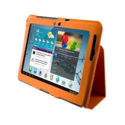 4World Samsung Galaxy Tab 2 műbőr narancs állvány tok