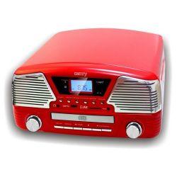 Camry CR 1134 Gramofon piros zenelejátszó