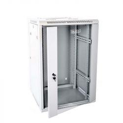 Digitus DN-WD19 18U/600 kétszekciós 19'' 18U 600x600 RAL7035 fali rack szekrény