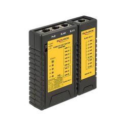 Delock Cable Tester RJ45 / RJ12 / PoE teszter