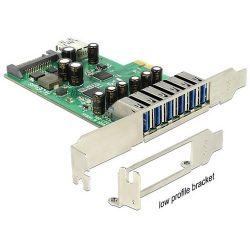 Delock PCI Express Card > 6 x external + 1 x internal USB 3.0 port bővítő