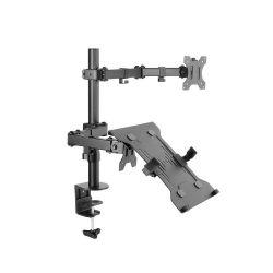 ART L-16GD 13-27'' max. 6.5kg 2 karos asztali fekete monitor tartó