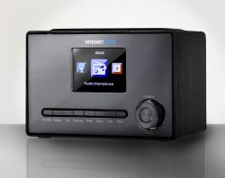 """Art RADA X100 színes LCD 3.2"""", 3 W, 220 V fekete internet rádió"""
