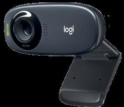 Logitech C310 HD, 720p/30 fps, 60°-os látótér fekete webkamera