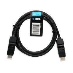 iBOX ITVFHD06 HDMI - HDMI v1.4 2m fekete forgatható HDMI kábel