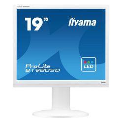 "Iiyama B1980SD-W1 A 19"", TN, SXGA, DVI, fehér monitor"