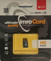 IMRO 10/8G MicroSDHC 8GB Class 10 memóriakártya