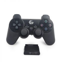 Gembird JPD-WDV-01 vezeték nélküli PS2 / PS3 / PC Dual Vibrációs gamepad