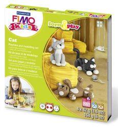 """FIMO """"Kids Form & Play"""" égethető cicák gyurma készlet (4x42 g)"""