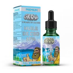 Grow Prémium BIO, GMO mentes 10%-os 10 ml CBD olaj kender kivonattal