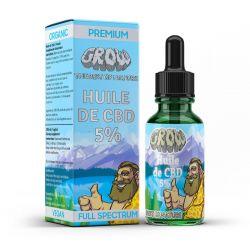 Grow Prémium BIO, GMO mentes 5%-os 10 ml CBD olaj kender kivonattal