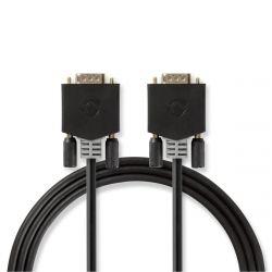 Nedis CCBW59000AT20 VGA - VGA apa-apa 2 m fekete kábel