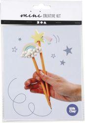 """CREOTIME """"Mini Creative Kit Pencil"""" vegyes színű ceruzadíszítő szett"""