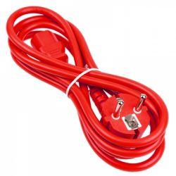 Kolink Schuko (apa) - C13 (anya) 1.8m piros tápkábel