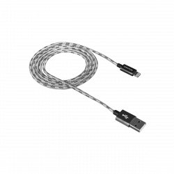 CANYON CNE-CFI3DG Lightning - USB A, 1 m ezüst kábel